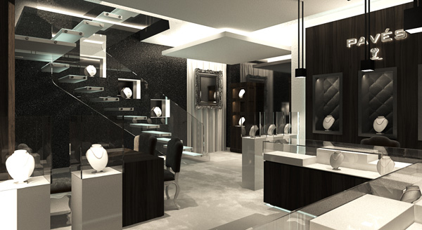 New Interior for Paves, Puerto Banus Jewelry